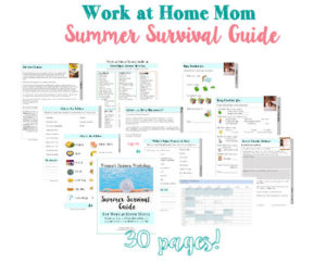 Printables for working moms, work at home moms, and boss moms. SUmmer activities, meal ideas, and support!