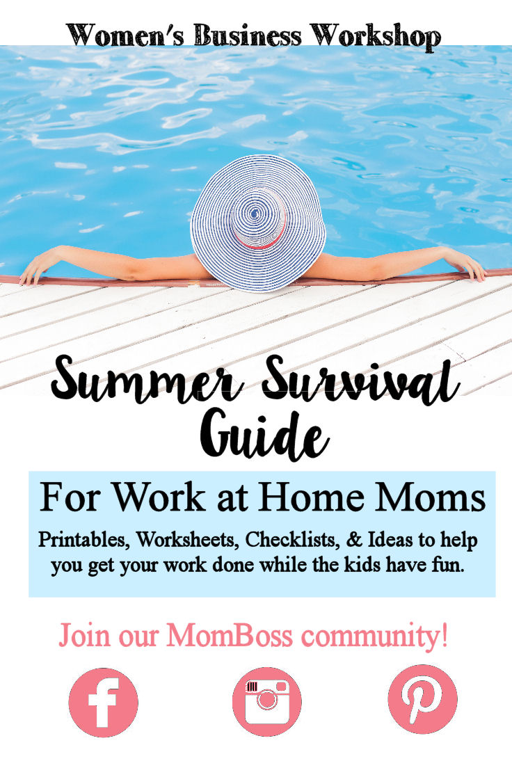 Printables, Checklists, Ideas, and Meal help for work at home moms. Great ideas so I can work while the kids keep busy this summer!