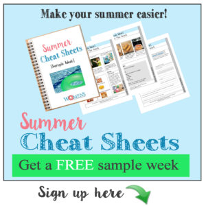 Summer plans for kids! Get a weekly printable with everything you need!