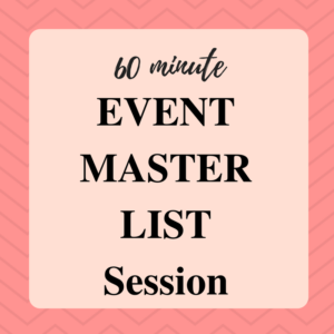 event planning to do list