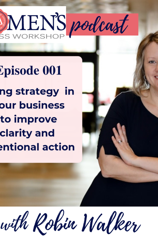 001- Using strategy in your business to improve clarity and intentional action